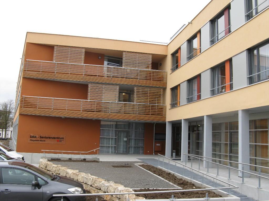 Eingang des Pflegeheim in Hugstetten