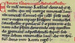 Schriftliche Ersterwähnung vom Ortsteil Holzhausen