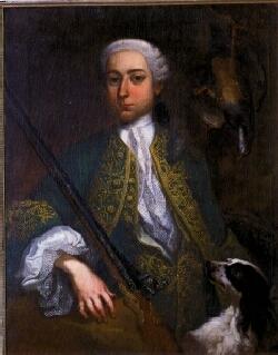 Gemälde der Gräfin in Jagdkleidung