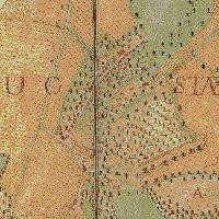 Hugstetter Gemarkungsplan von 1775 unterhalb des Mühlenbergs, im heutigen