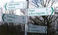 Richtungsschild für Radwege