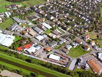 Luftbild vom Gewerbegebiet Buchheim