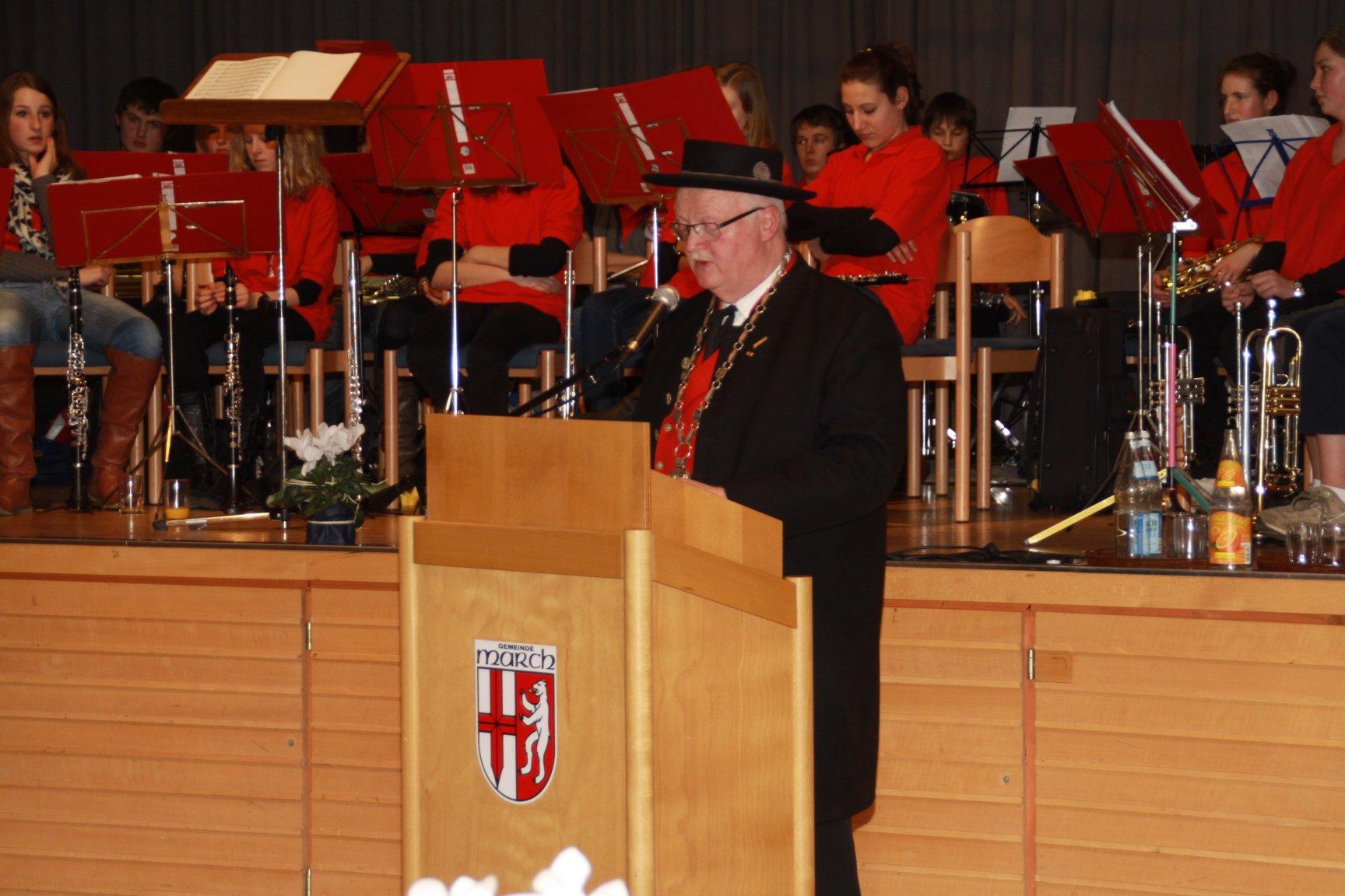 Begrüßungsrede von Bürgermeister Hügele