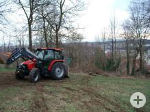 Traktor mit Seilwinde