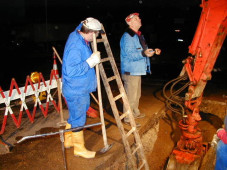 Bauhof beim Wasserrohrbruch
