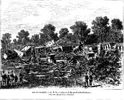 historische Aufnhame des Zugunglücks