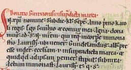 Schriftliche Ersterwähnung vom Ortsteil Buchheim