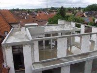 Blick auf das Dachgeschoss ohne Dach