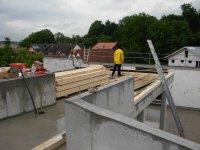 Baumaterial für die Errichtung des Dachstuhl