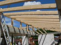 Holzkonstruktion vom Pultdach
