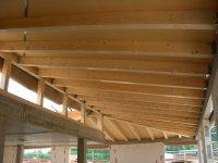 Unterseite des Dachstuhls