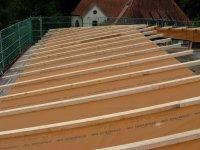 Oberseite des Dachstuhls