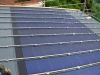 Blick auf die fertige Solaranlage