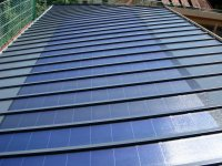 fertig installierte Solaranlage