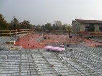 Obergeschossdecke mit verlegten Eisenmatten