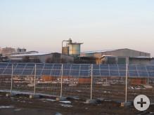 Blick auf den Solarpark