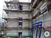 Arbeiten an der Aussenfassade