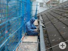 Sanierungsarbeiten am Dach