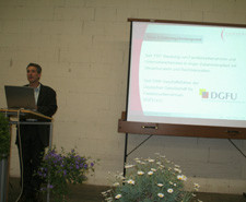 Unternehmensberater Frank Domonell bei seinem Vortrag