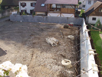 fertige Betonmauer
