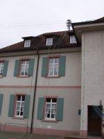 Abbau des Dachständers des Rathaus I