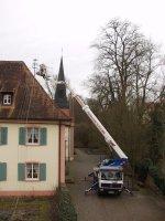 Abbau des Dachständers des Rathaus II
